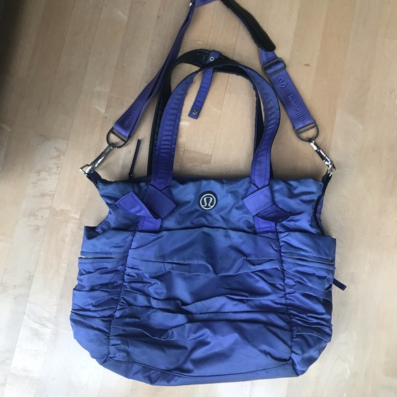 lululemon athletica Handbags - Lululemon purple/ blue Gym Yoga Diaper Bag
